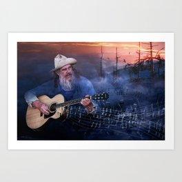 Folk Music In The Hills Art Print