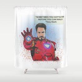 Tony Stark Desain 002 Shower Curtain