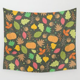 Thanksgiving pattern Wall Tapestry