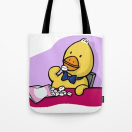 Is That More Food? Marshmallows Make Ducks Soft. Tote Bag