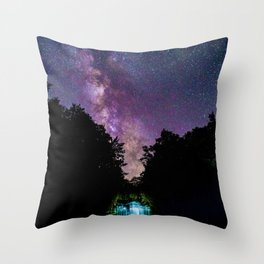 Galaxy Waterfall (Color) Throw Pillow