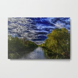 Branch River at Forestdale, Rhode Island Landscape Painting by Jeanpaul Ferro Metal Print