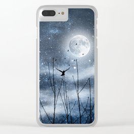 Call of the moon Clear iPhone Case