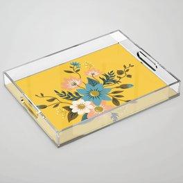 Flowers Acrylic Tray
