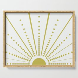 Sun Yellow on White Serving Tray