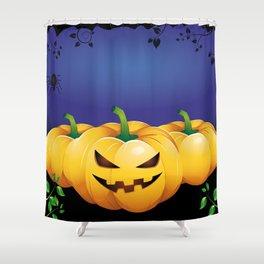 pumpkin heads Shower Curtain