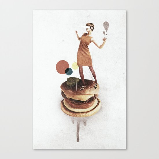 These Burgers Are Crazy | Collage Canvas Print
