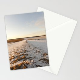 Ruts on a snow-covered road Stationery Cards