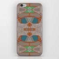 megan lara iPhone & iPod Skins featuring lara by kallia panopoulou