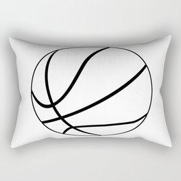 Black And White Basketball Rectangular Pillow