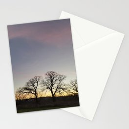 Autumn Sunset Silhouette - Pheasant Branch Conservancy Stationery Cards