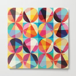 Beautiful colors Geometry, geometric abstract triangles circles squares Metal Print