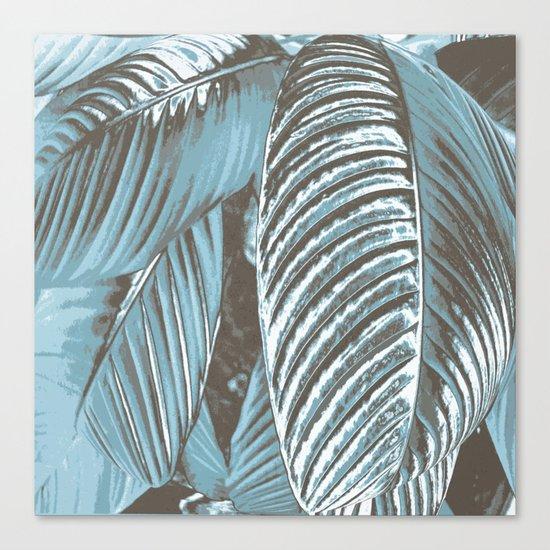 Sea-blue Leaves Canvas Print