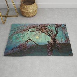 Hiroshi Yoshida - Kumoi Cherry Trees - Japanese Vintage Ukiyo-e Woodblock Painting Rug