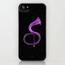 Purple Italian Basso iPhone Case