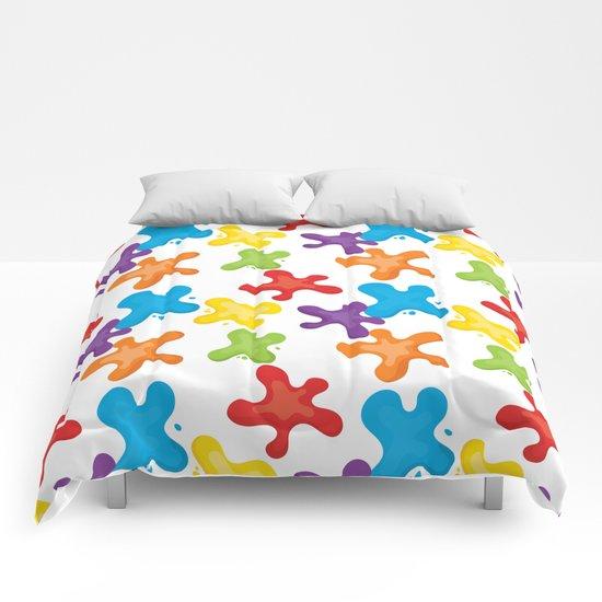 Paint splatters Comforters