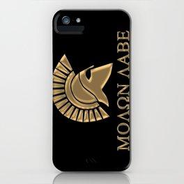 Molon lave-Spartan Warrior iPhone Case