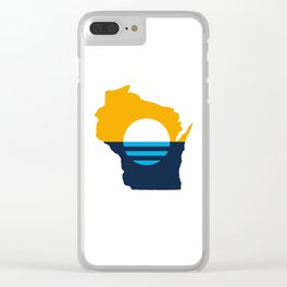 Wisconsin - People's Flag of Milwaukee Clear iPhone Case