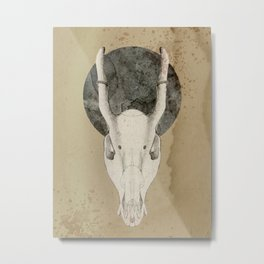 tribal moon Metal Print