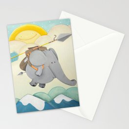 Explorer Elephant Stationery Cards
