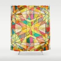 kaleidoscope Shower Curtains featuring Kaleidoscope by Tammy Kushnir