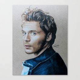Sam Claflin Drawing Canvas Print