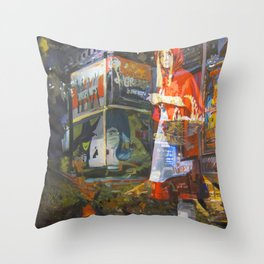 In bocca al Lupo Throw Pillow