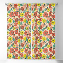 Potentillas and Daisies Blackout Curtain