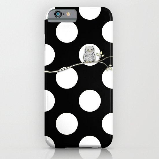 Out on a Limb - Polka Dot Owl Moon iPhone & iPod Case