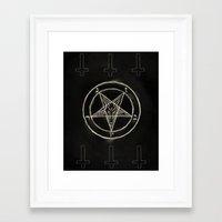 pentagram Framed Art Prints featuring Pentagram by Corpse inc