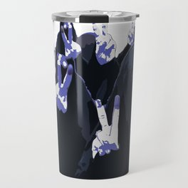Blue Ink Victory Travel Mug
