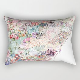 Barcelona map Rectangular Pillow