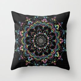 Mandala Transcendental Dream Spiritual Zen Bohemian Hippie Yoga Mantra Meditation Throw Pillow