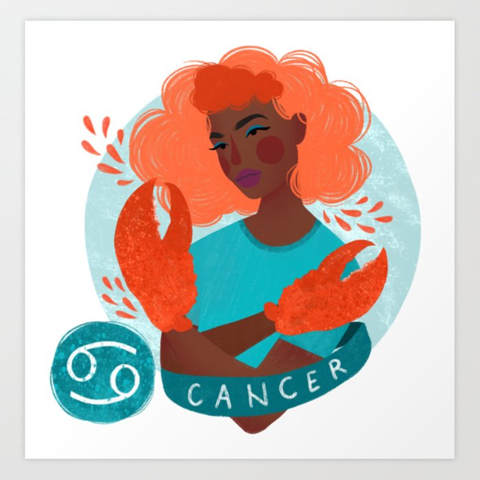 Cancer Zodiac Illustration Art Print