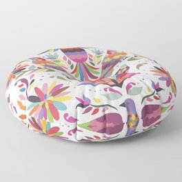 Tarditional Mexican Birds and Flowers Pattern Floor Pillow