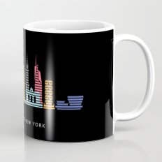 New York Skyline Black Coffee Mug