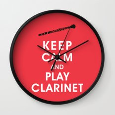 Keep Calm and Play Clarinet Wall Clock