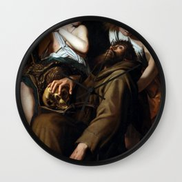 Giovanni Baglione The Ecstasy of Saint Francis Wall Clock