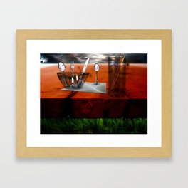 Bathing in Breakfast Framed Art Print