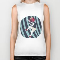 into the wild Biker Tanks featuring WILD by Mireia Mullor