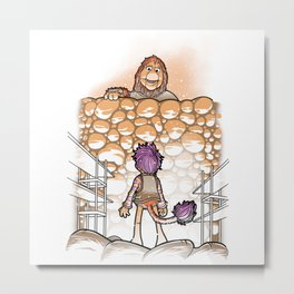 Attack on fraggle lion Metal Print