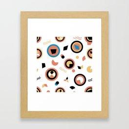 Circles and irregular shapes pattern Framed Art Print