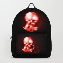 glowing red halloween skull Backpack
