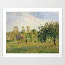 """Camille Pissarro """"Le pré à Éragny, été, soleil, fin d'après-midi"""" Art Print"""