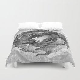 Running With The Wolves Duvet Cover