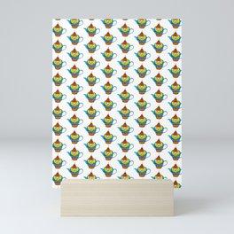 Dream Pattern - House in Cup - TeaPot - Dream Color Mini Art Print
