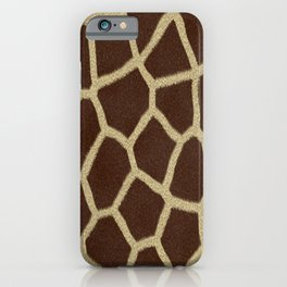 primitive safari animal brown and tan giraffe spots iPhone Case
