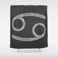 cancer Shower Curtains featuring Cancer by David Zydd