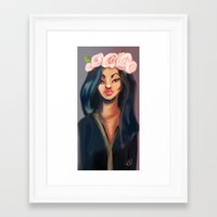 princess Framed Art Prints featuring Princess by Jaleesa McLean