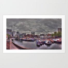 Gas Street Basin - the Canal House at dusk Art Print